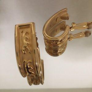 AFJ Earrings Gold Tone